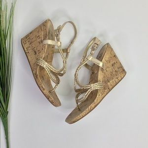 Giani Bini Cork Wedge Sandals